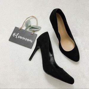 LC Lauren Conrad Blossom Black Classic Heels